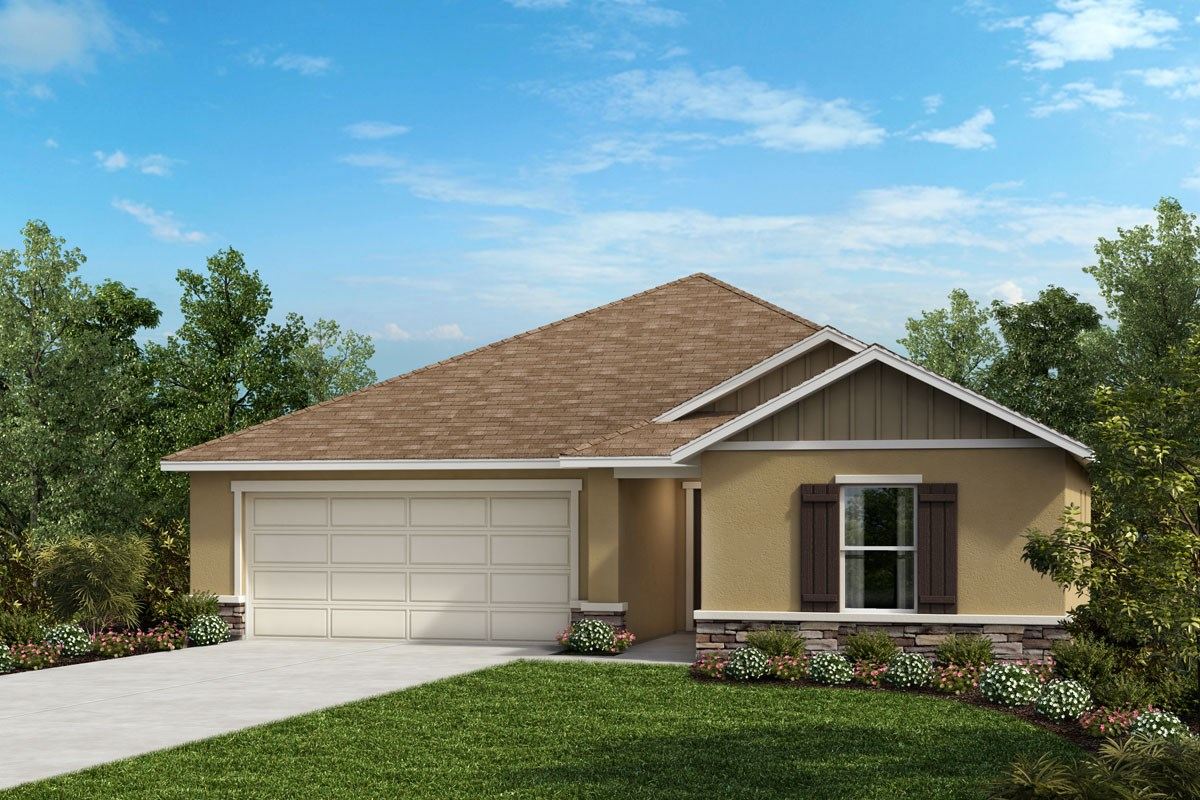 New Homes in Davenport, FL - Magnolia at Westside Elevation G with optional stone