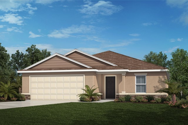 New Homes in Davenport, FL - Elevation F (with optional Stone)