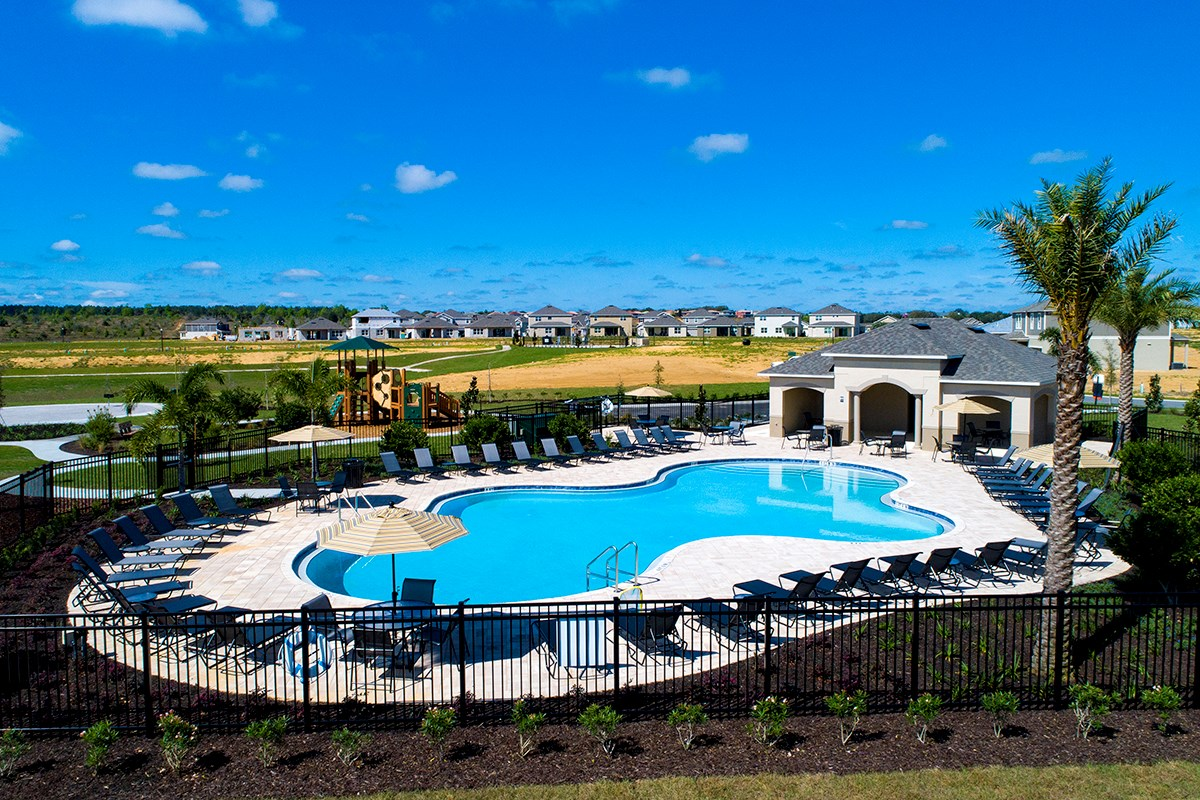 New Homes in Davenport, FL - Magnolia at Westside Community Pool & Tot Lot