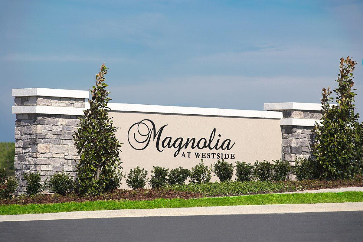 New Homes in Davenport, FL - Magnolia at Westside Community Monument Sign