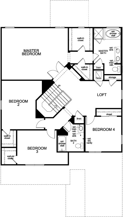 new homes in winter garden fl plan 3009 second floor - Winter Garden Fl New Homes