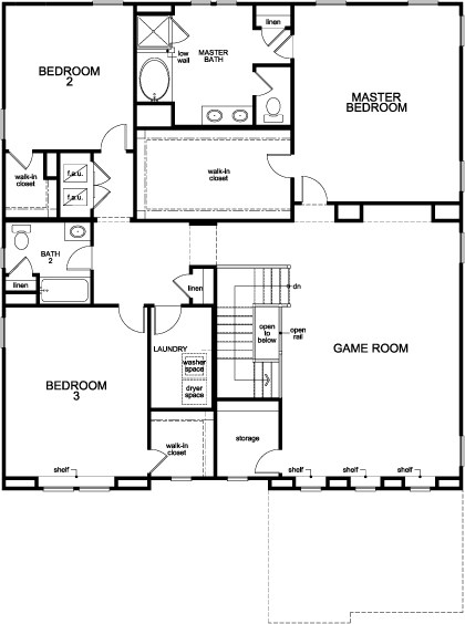 new homes in winter garden fl plan 3737 modeled second floor - Winter Garden Fl New Homes