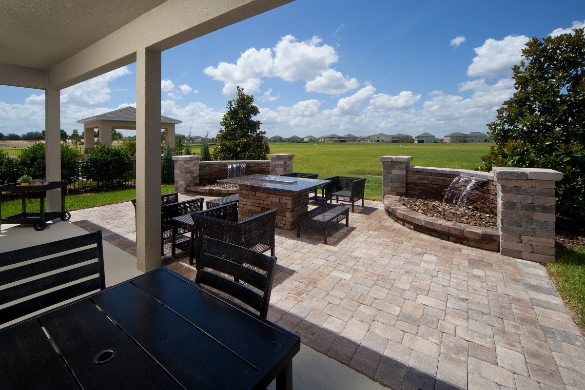 New Homes in Winter Garden, FL - Orchard Park 2127 Backyard