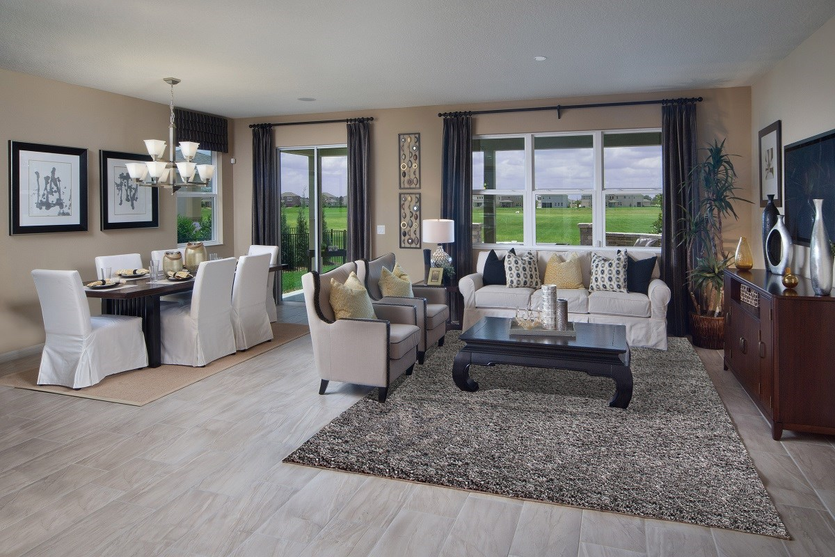 New Homes in Winter Garden, FL - Orchard Park 2127 Great Room