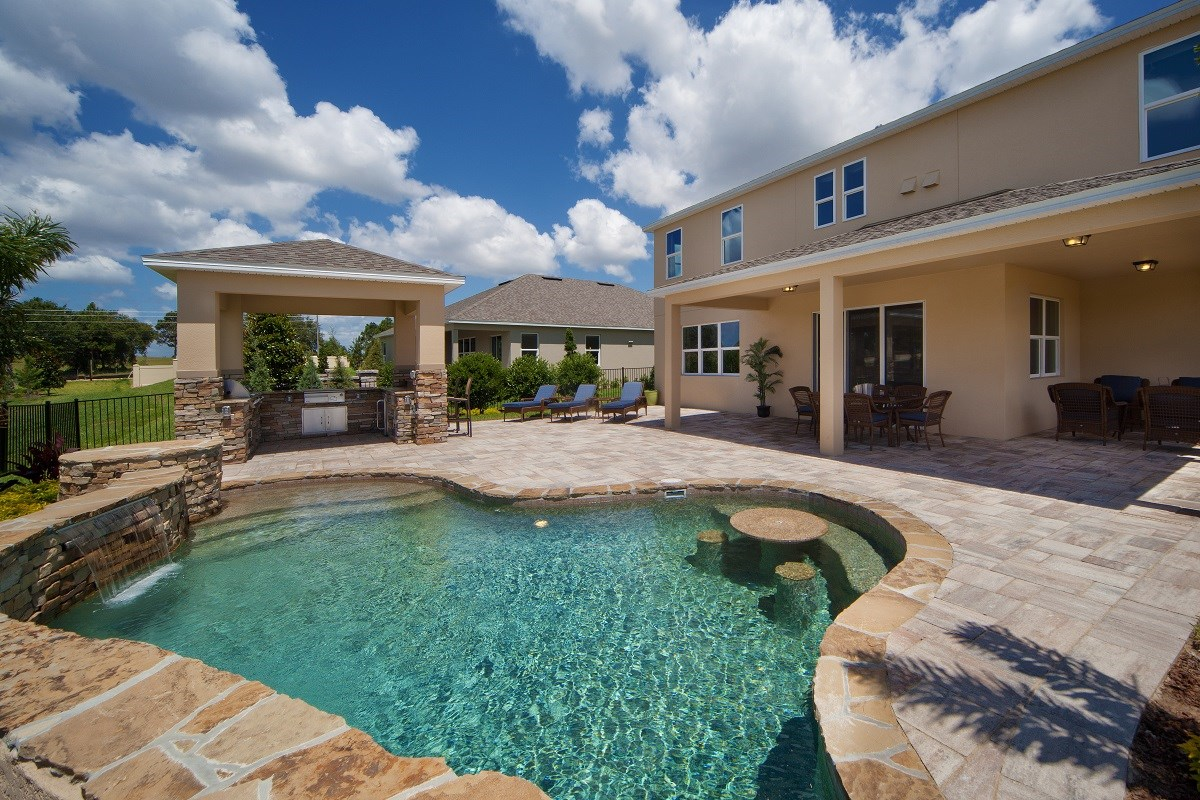 New Homes in Winter Garden, FL - Orchard Park 3737 Pool and Outdoor Kitchen