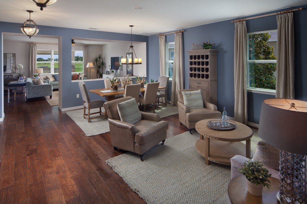 new homes in winter garden fl orchard park 3737 livingdining room. beautiful ideas. Home Design Ideas