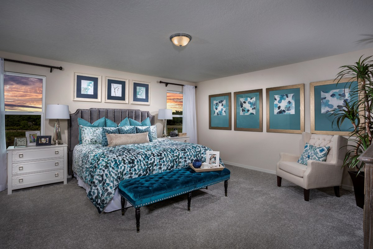 New Homes in Davenport, FL - Preservation Pointe Plan 2107 Master Bedroom