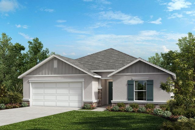 New Homes in St. Cloud , FL - Elevation G with optional stone