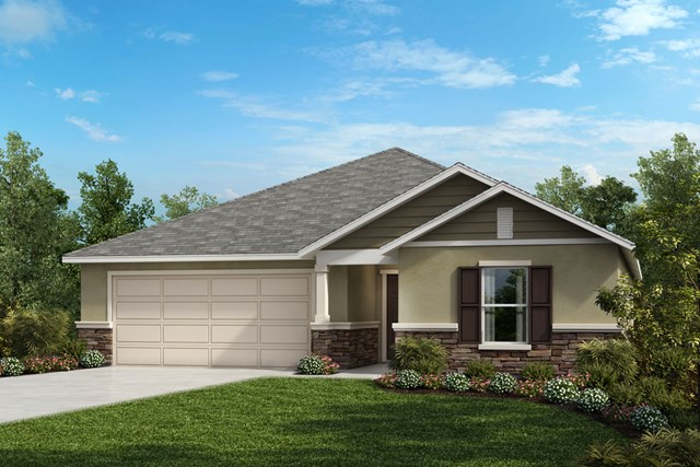 New Homes in St. Cloud , FL - Elevation F with stone