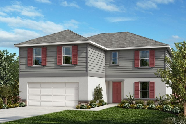 New Homes in St. Cloud , FL - Elevation E with optional stone