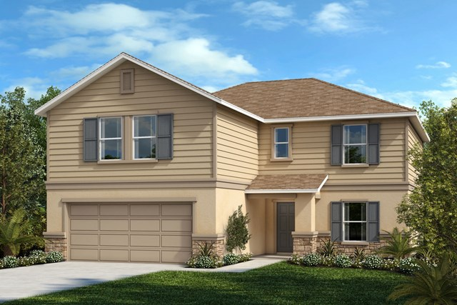 New Homes in St. Cloud , FL - Elevation F with optional stone