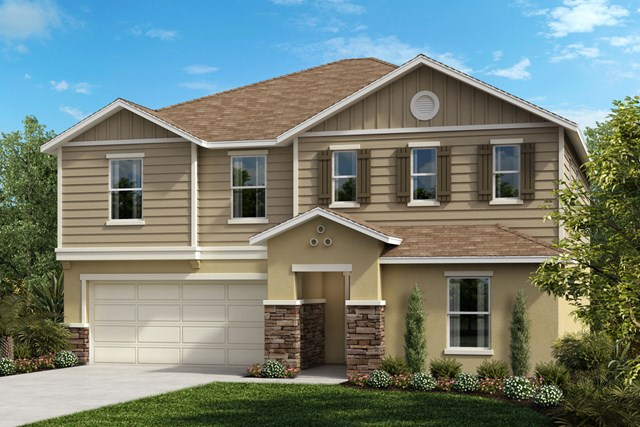 New Homes in Clermont, FL - Elevation G with optional stone