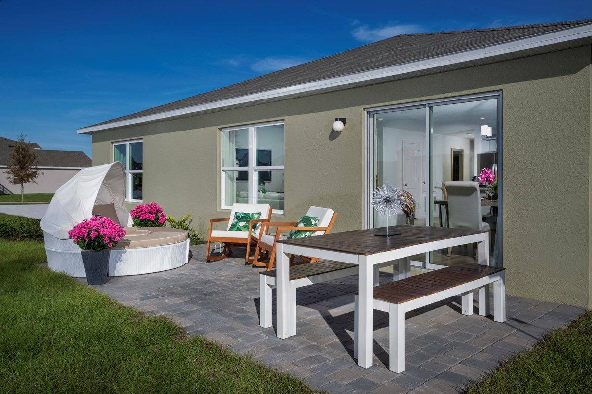 New Homes in Clermont, FL - Sawgrass Bay 1760 Back Patio