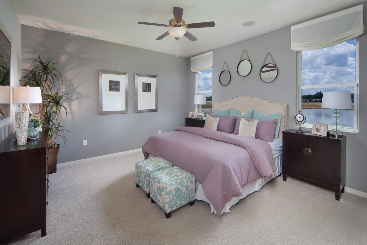 New Homes in Orlando, FL - Sawgrass Pointe 2034 Master Bedroom