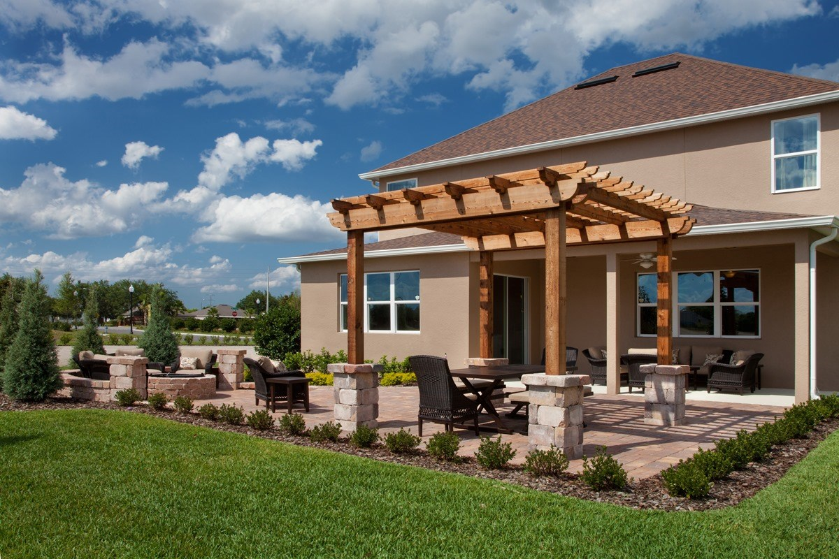 New Homes in Orlando, FL - Sawgrass Pointe 2843 Backyard