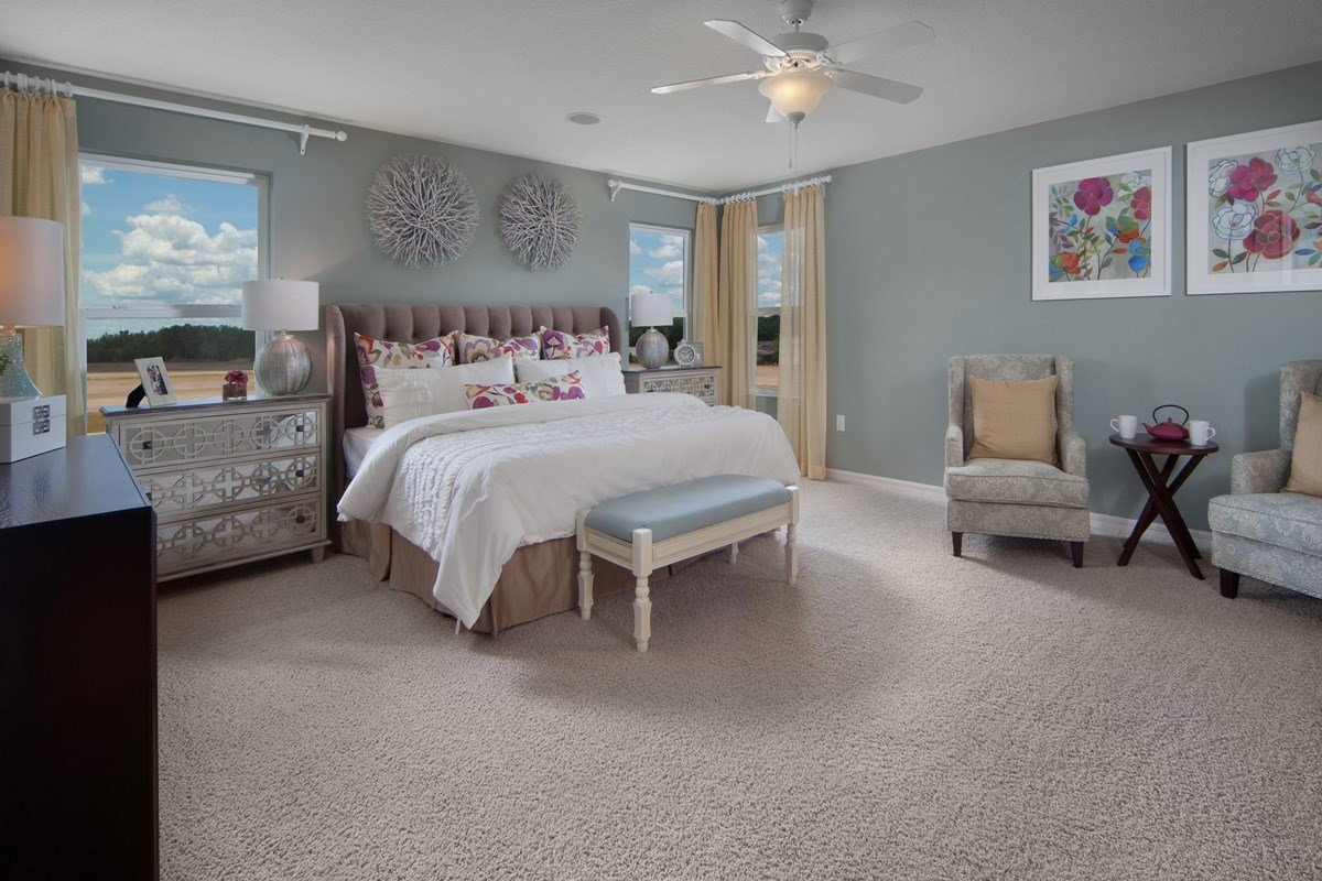 New Homes in Orlando, FL - Sawgrass Pointe 2843 Master Bedroom