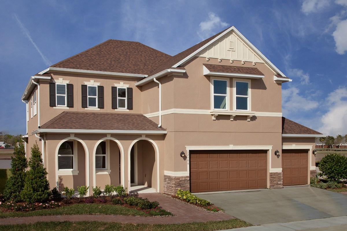 New Homes in Orlando, FL - Sawgrass Pointe 2843 Exterior