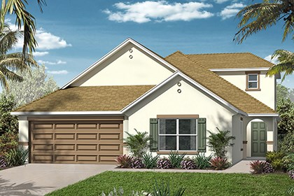 New Homes in Orlando, FL - Elevation A w/Bonus Room
