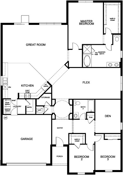 Plan 2620 Modeled New Home Floor Plan in Sawgrass Pointe II by KB Home – Kb Homes Floor Plans