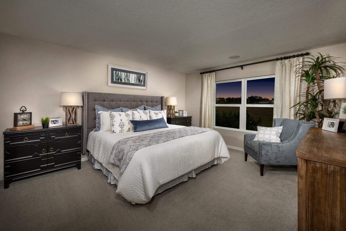 New Homes in Groveland, FL - Stewart Lake Preserve 1707 Master Bedroom