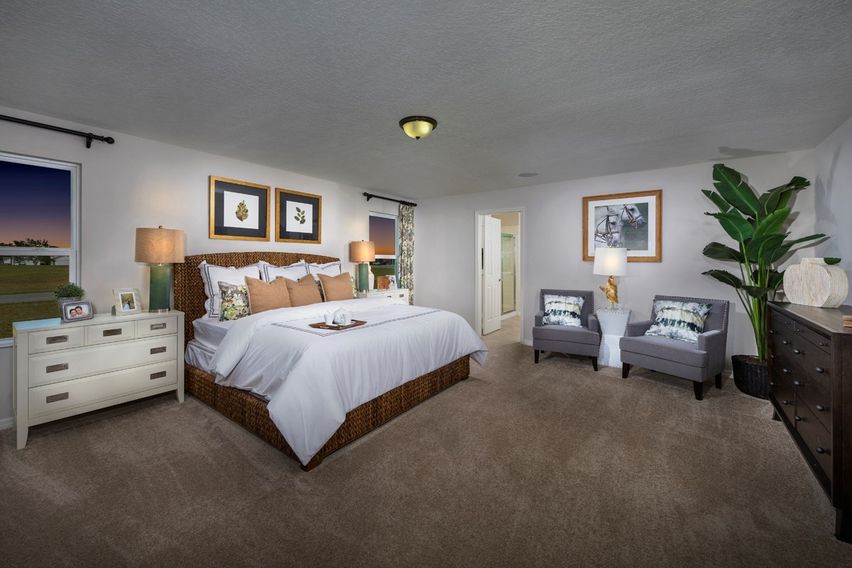 New Homes in Groveland, FL - Stewart Lake Preserve 2545 Master Bedroom