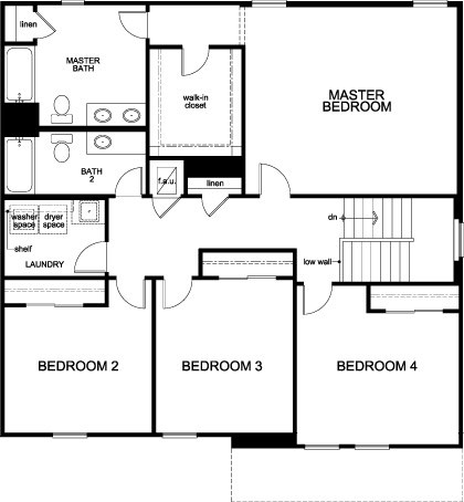 New Homes in West Melbourne, FL - The Bainbridge, Second Floor