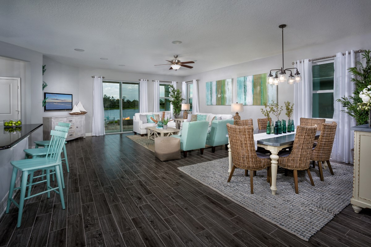 New Homes in West Melbourne, FL - Cypress Landings The Highland Great Room