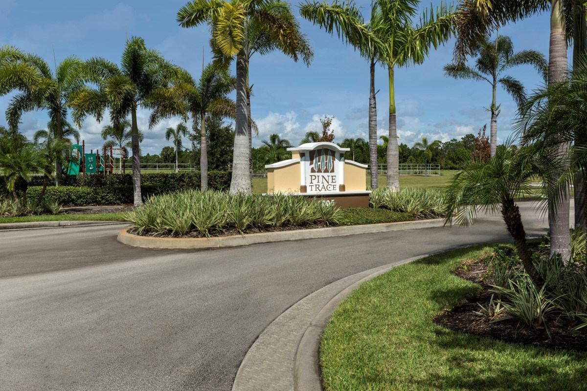 New Homes in Port St. Lucie, FL - Pine Trace Community Entrance
