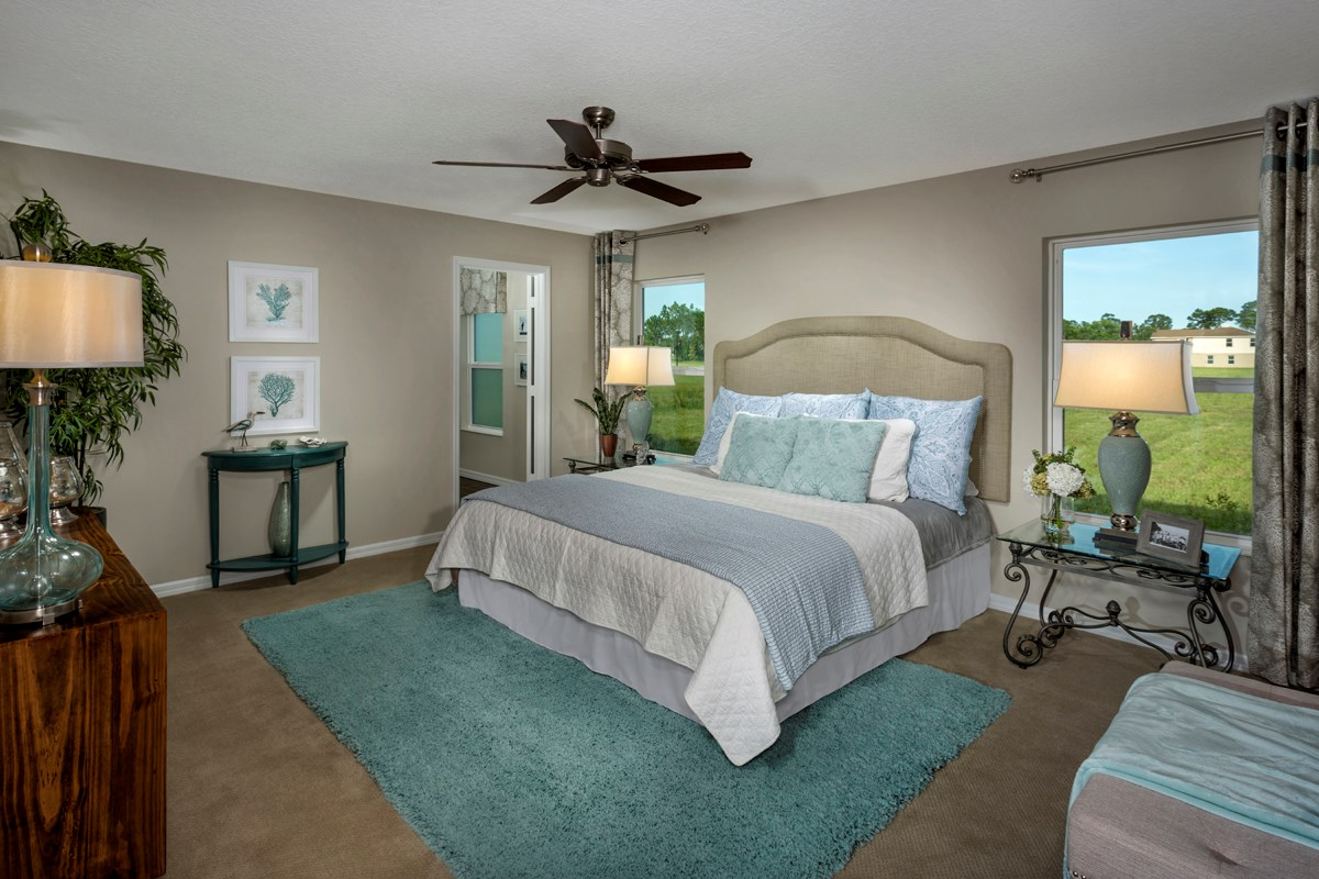 New Homes in Port St. Lucie, FL - Pine Trace Master Bedroom
