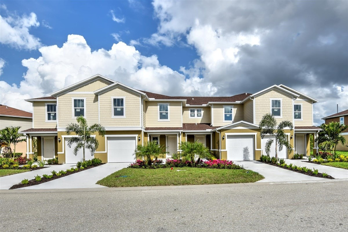 New Homes in North Fort Myers, FL - Bayshore Commons 4-Plex Street View