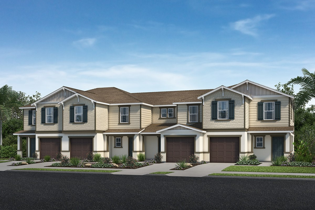 New Homes in North Fort Myers, FL - Bayshore Commons Plan 1502 - 4-Plex Street View