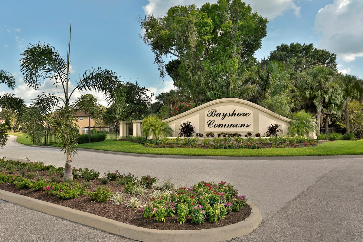 New Homes in North Fort Myers, FL - Bayshore Commons Gated Entrance