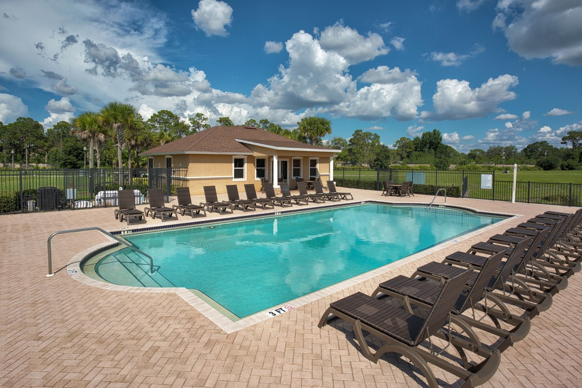 New Homes in North Fort Myers, FL - Bayshore Commons Community Pool & Cabana