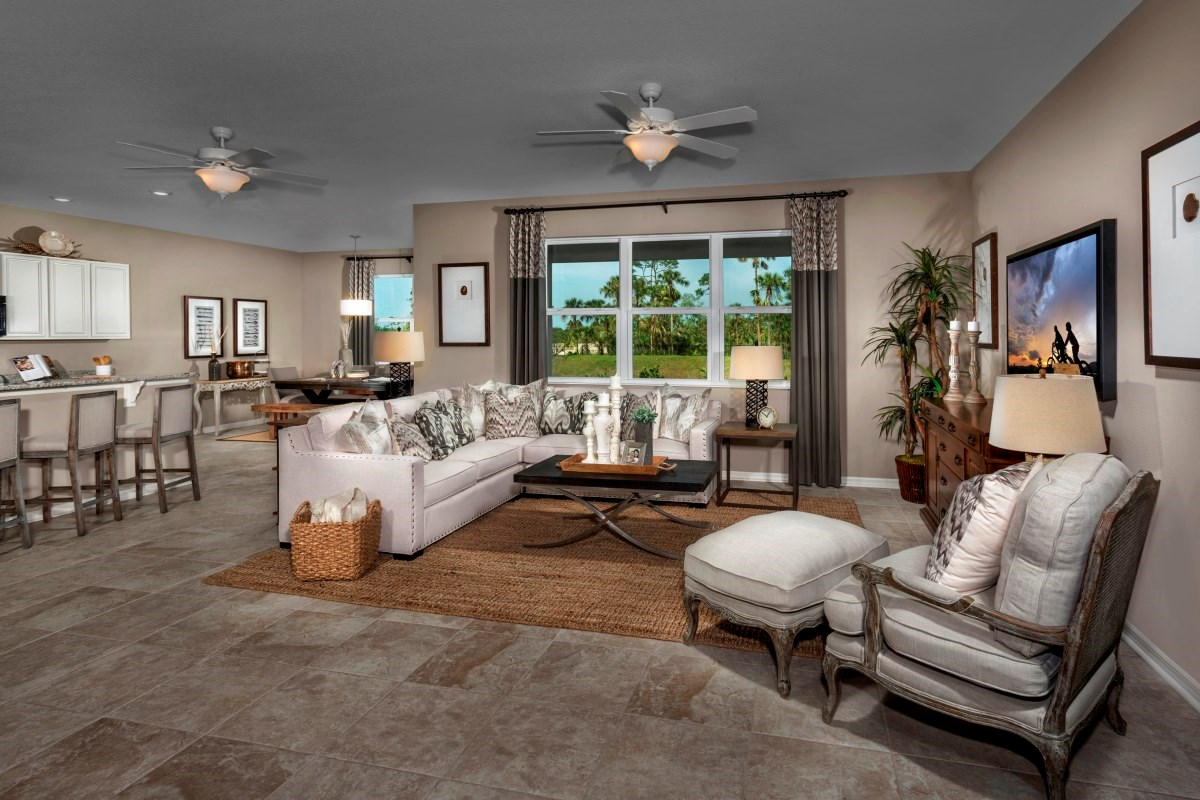 New Homes in Fort Myers, FL - Coves of Estero Bay Plan 2127 Great Room