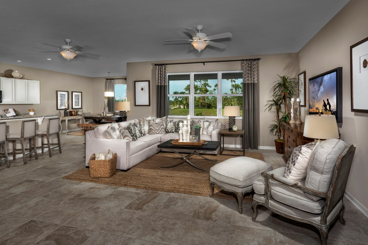 New Homes In Fort Myers, FL   Coves Of Estero Bay Plan 2127 Great Room