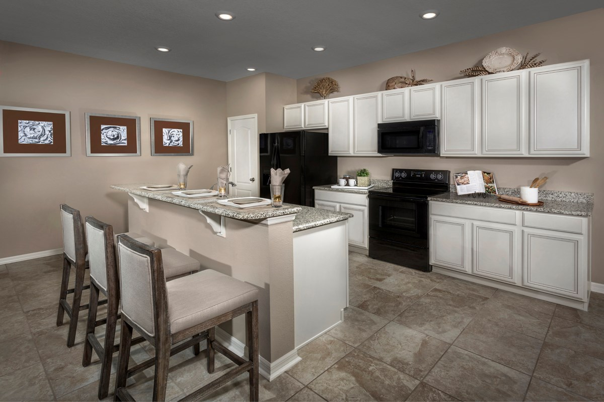 New Homes in Fort Myers, FL - Coves of Estero Bay Plan 2127 Kitchen