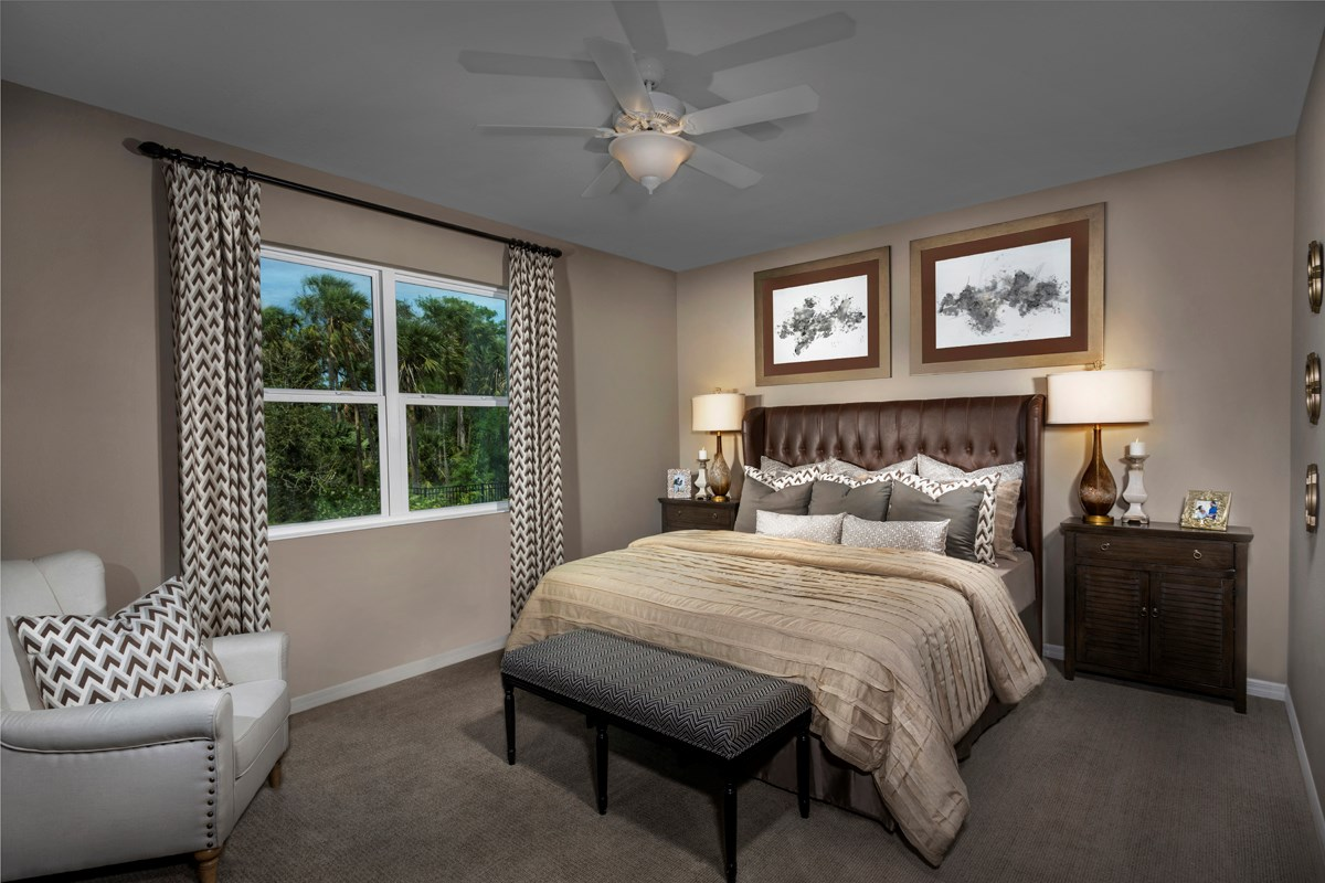 New Homes in Fort Myers, FL - Coves of Estero Bay Plan 2127 Master Bedroom