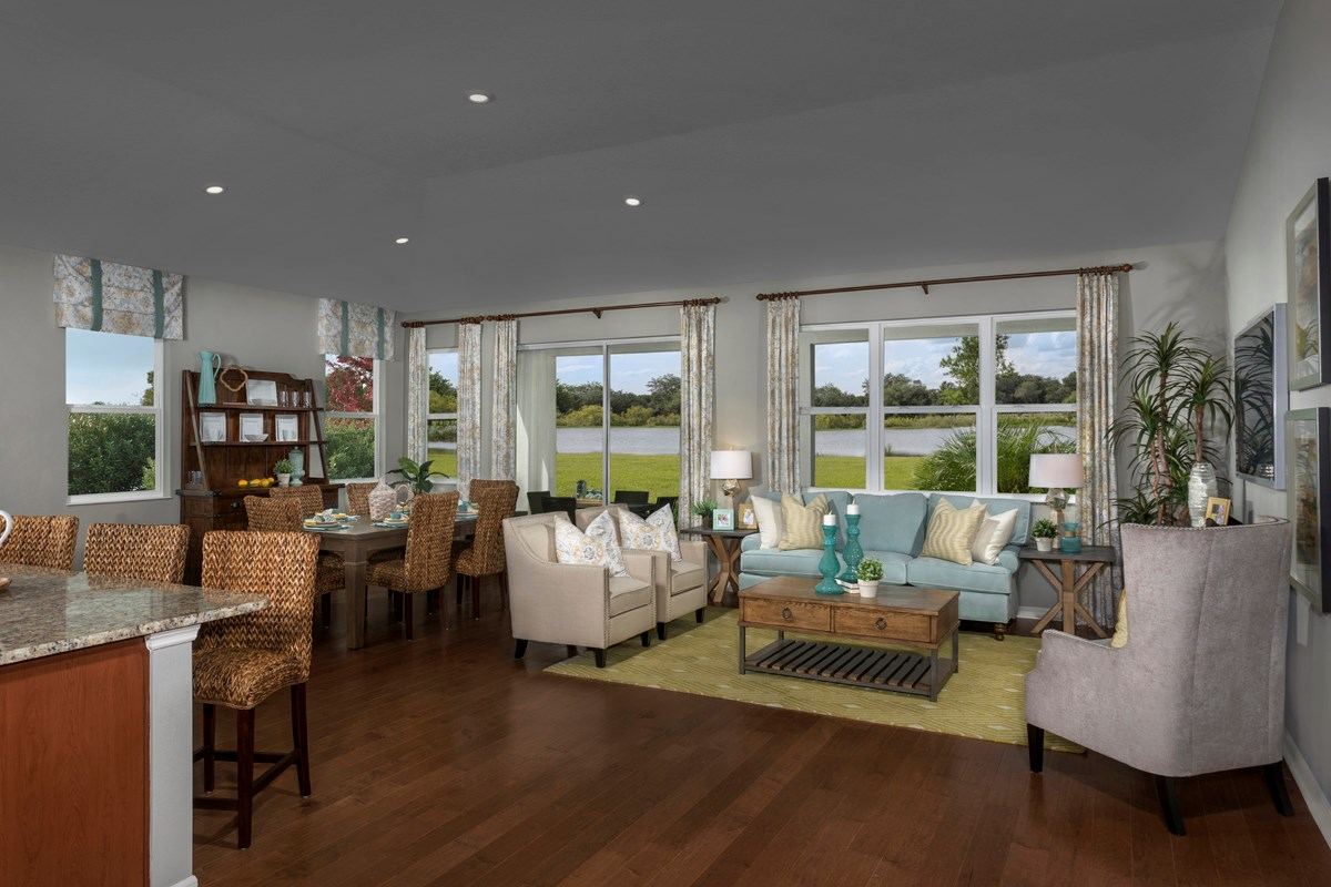 New Homes in Fort Myers, FL - Coves of Estero Bay Plan 2609 Great Room