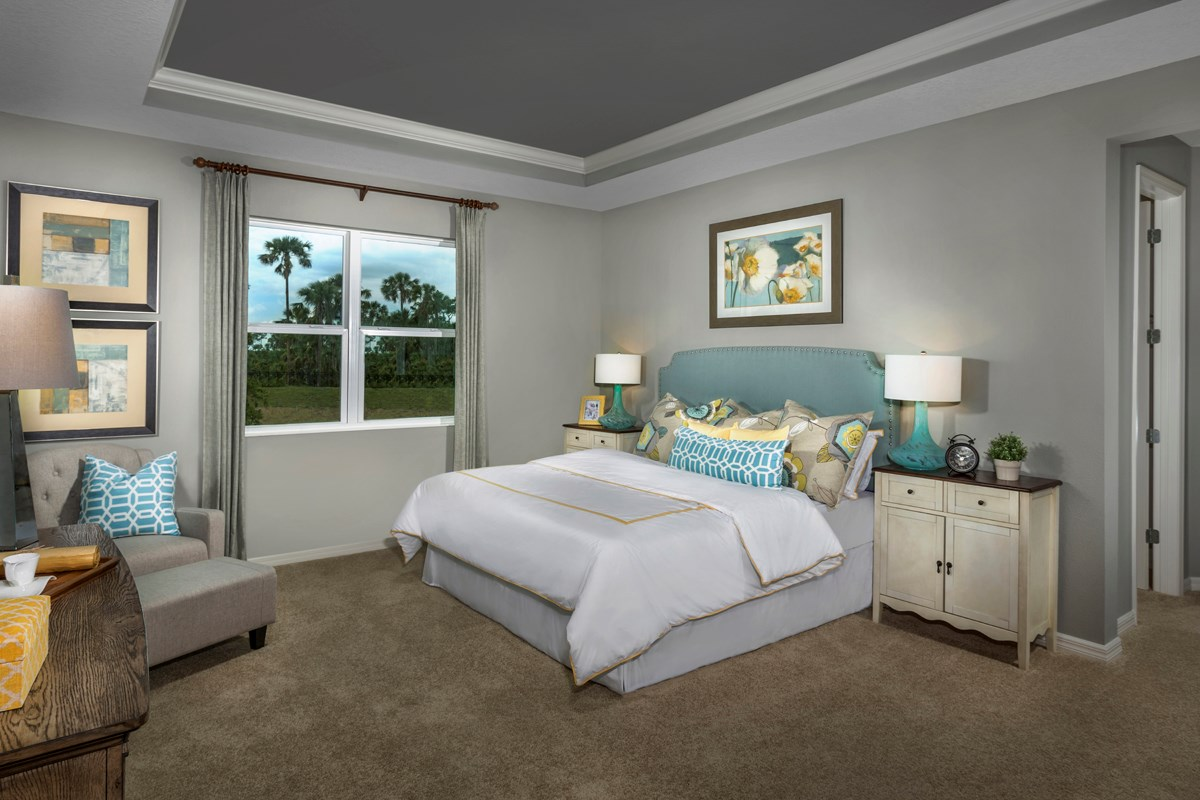 New Homes in Fort Myers, FL - Coves of Estero Bay Plan 2609 Master Bedroom