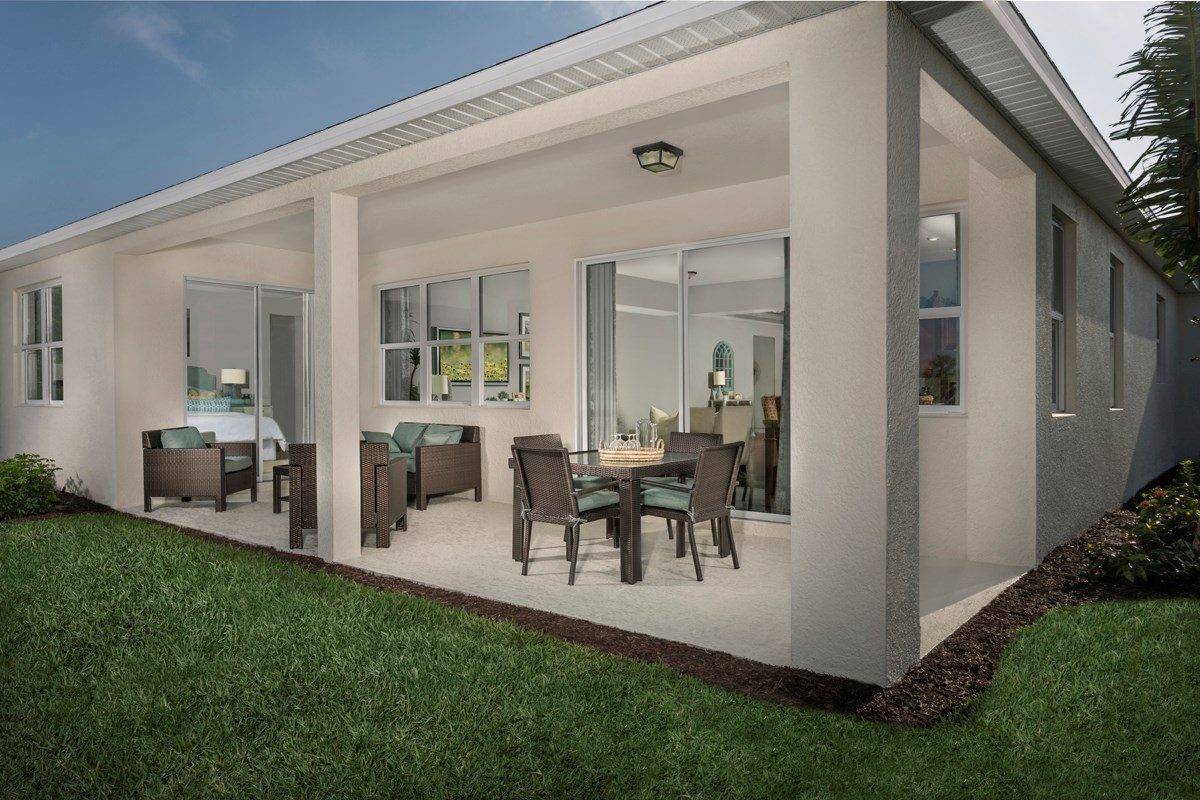New Homes in Fort Myers, FL - Coves of Estero Bay Plan 2609 Extended Covered Patio