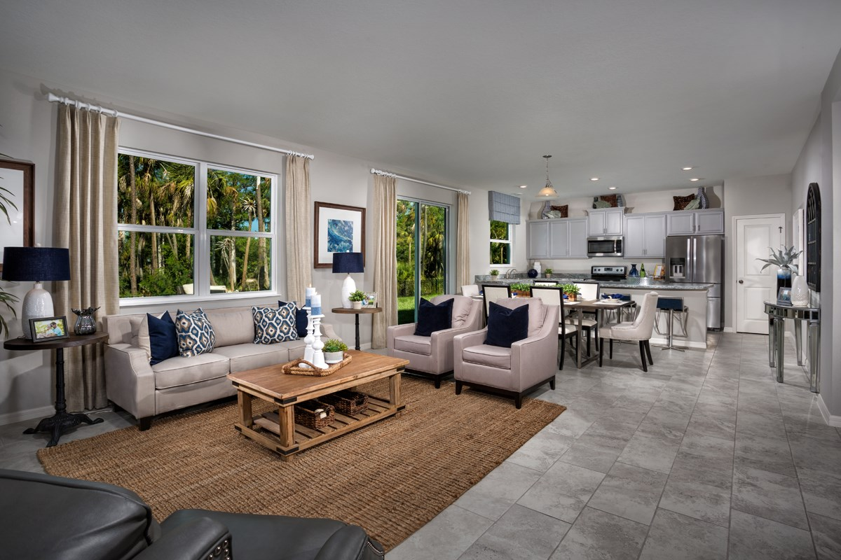 New Homes in Fort Myers, FL - Coves of Estero Bay Plan 1769 Great Room