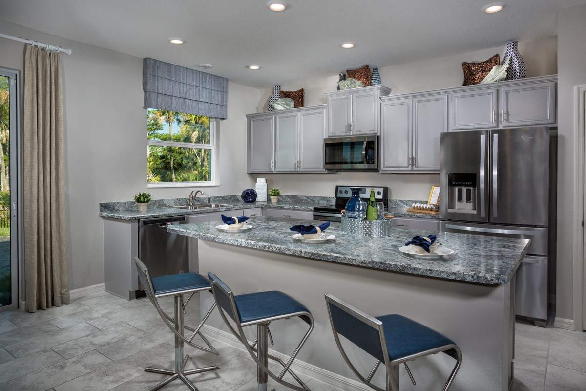 New Homes in Fort Myers, FL - Coves of Estero Bay Plan 1769 Kitchen