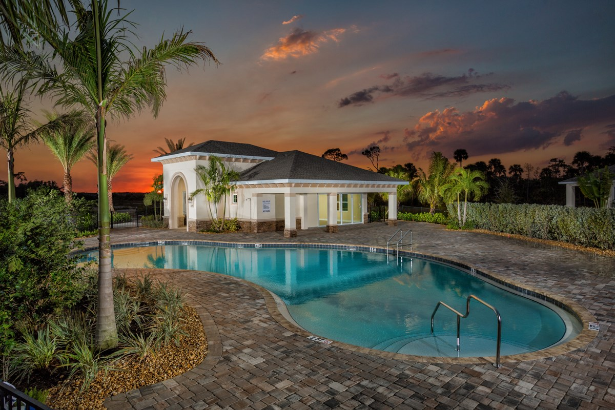 New Homes in Fort Myers, FL - Coves of Estero Bay Pool Amenity View #2