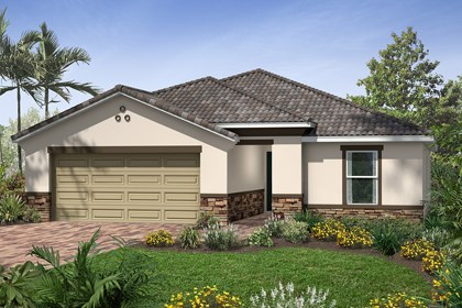 New Homes in Venice, FL - Elevation C with Stone