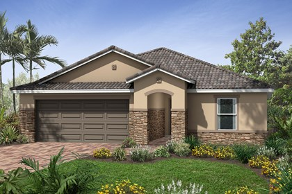 New Homes in Venice, FL - Elevation D with Stone