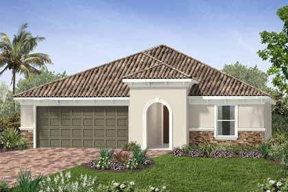 New Homes in Venice, FL - Elevation G with Stone