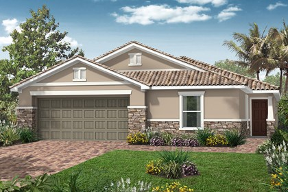 New Homes in Venice, FL - Elevation B with Stone