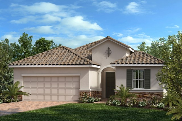 New Homes in Venice, FL - Elevation Y with Stone