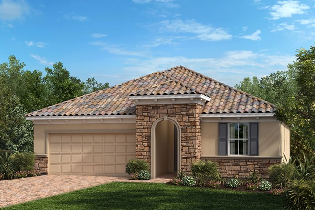 New Homes in Venice, FL - Elevation Z with Stone
