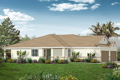 New Homes in Punta Gorda, FL - Plan 1311 Side View